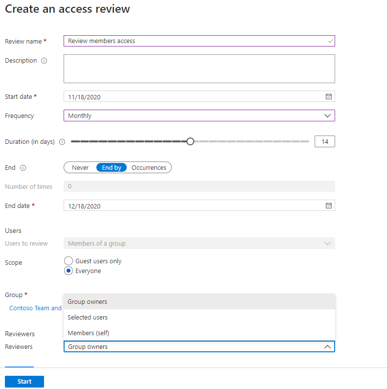 Azure AD Access Review