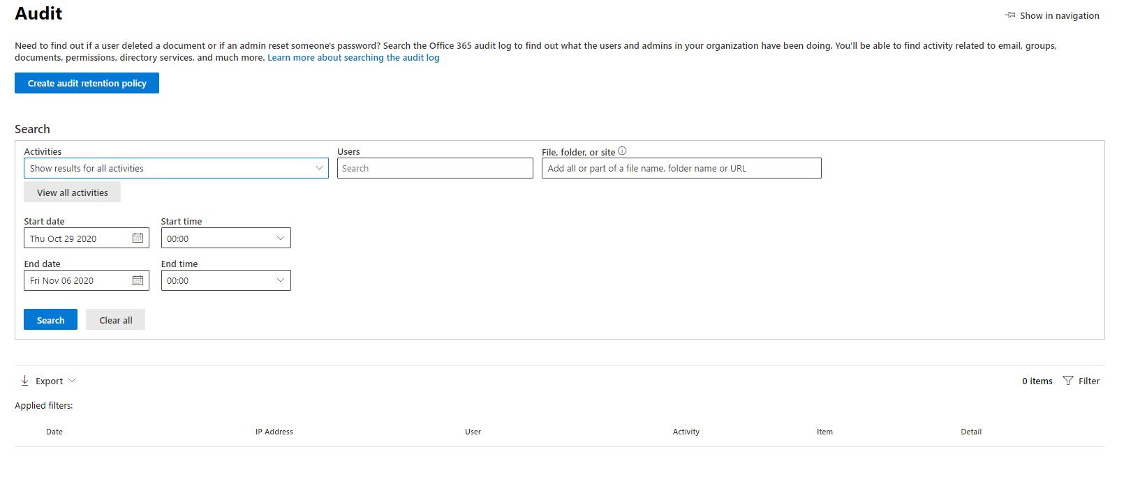 Microsoft 365 Audit