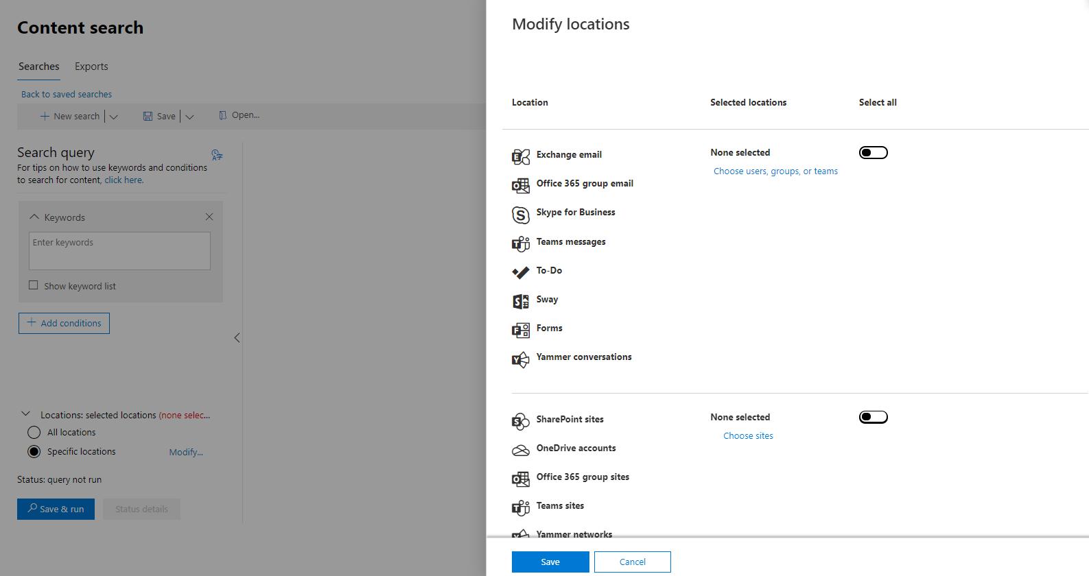 Microsoft 365 Conten Search