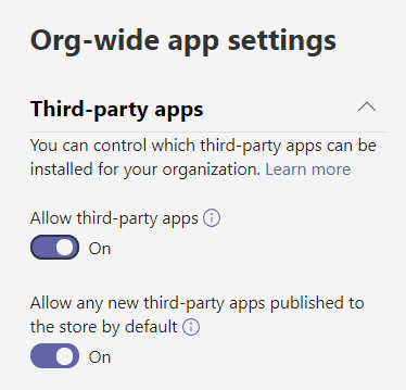 Microsoft Teams 3rd Party Apps