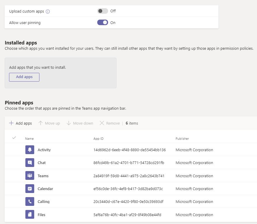 Microsoft Teams App Setup Policies
