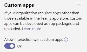 Microsoft Teams Custom App