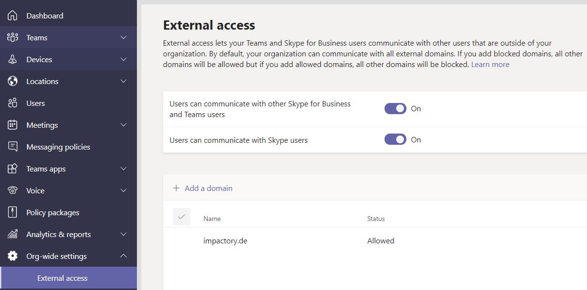 Microsoft Teams External Access