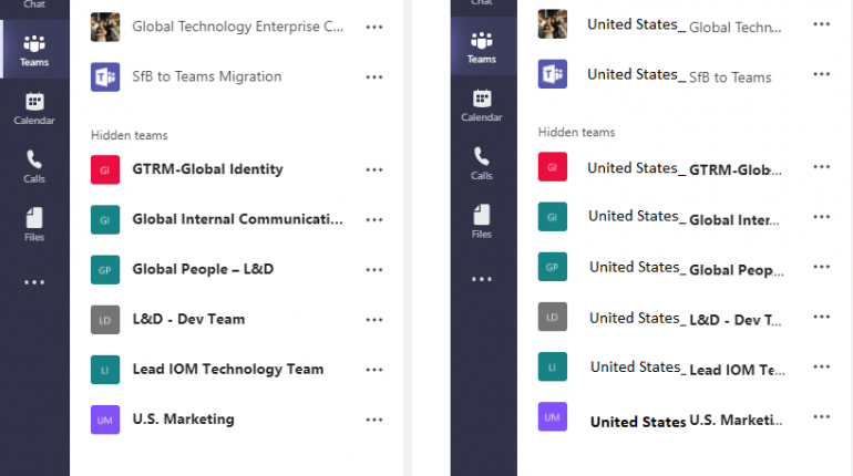 Microsoft Teams Long Prefix