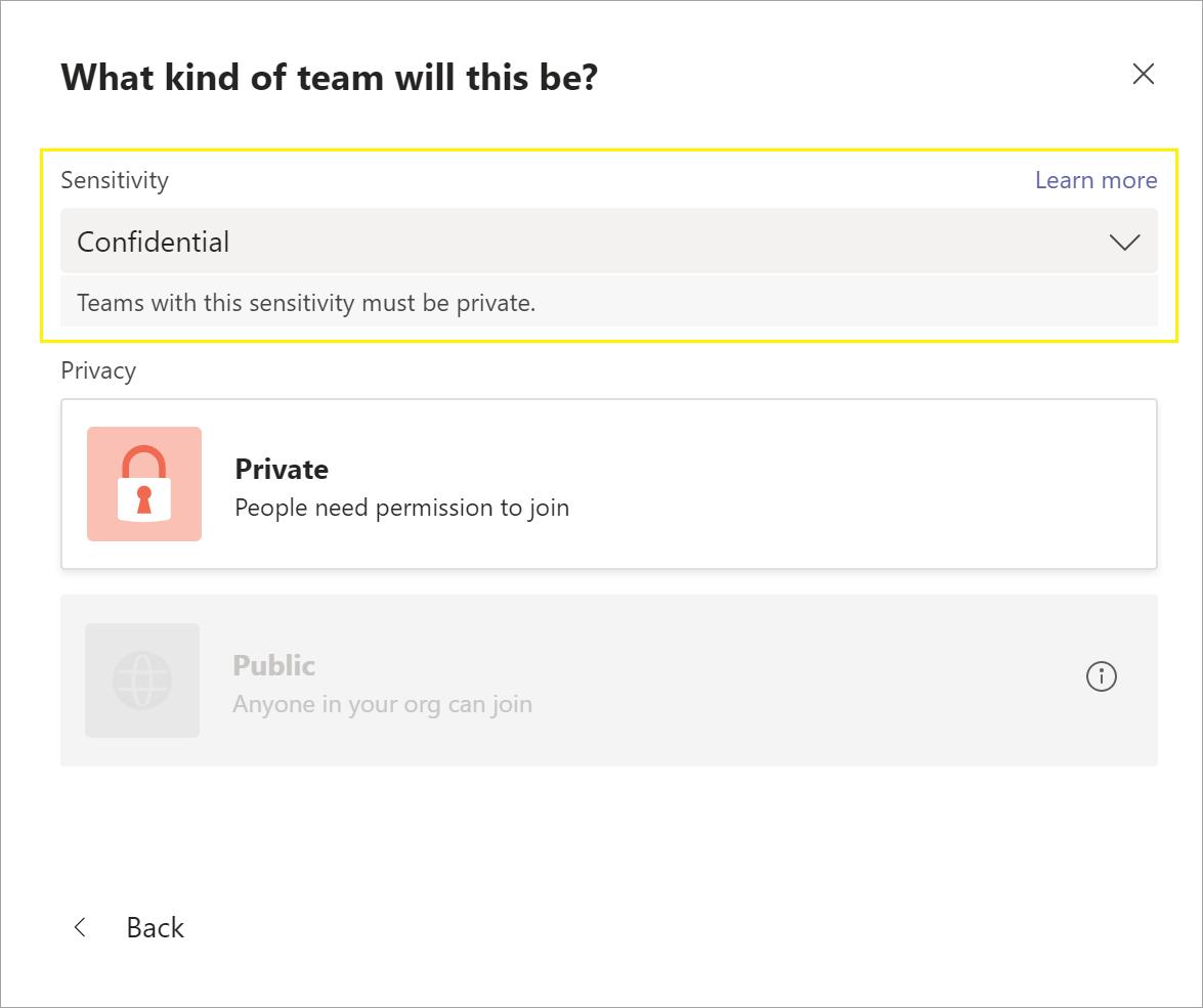 Microsoft Teams - New Team