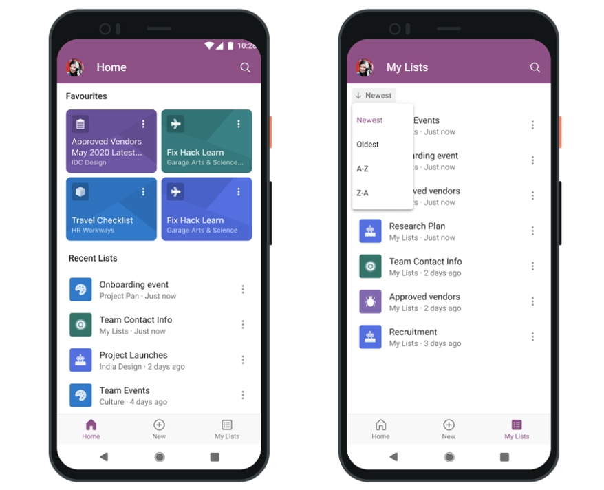 Lists for Android