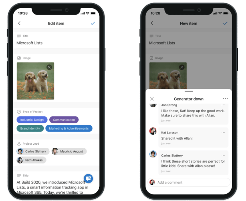 Lists for iOS - Comments