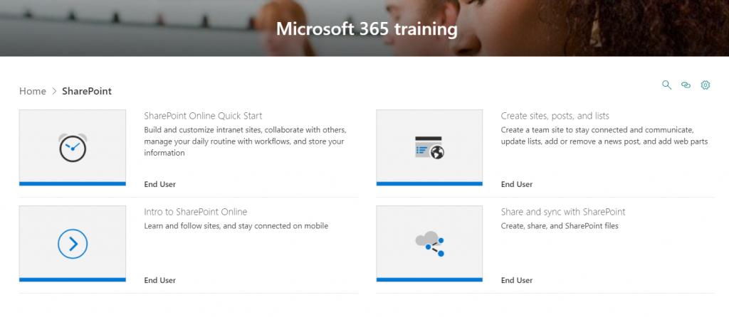Microsoft 365 Learning Pathways - SharePoint Playlist
