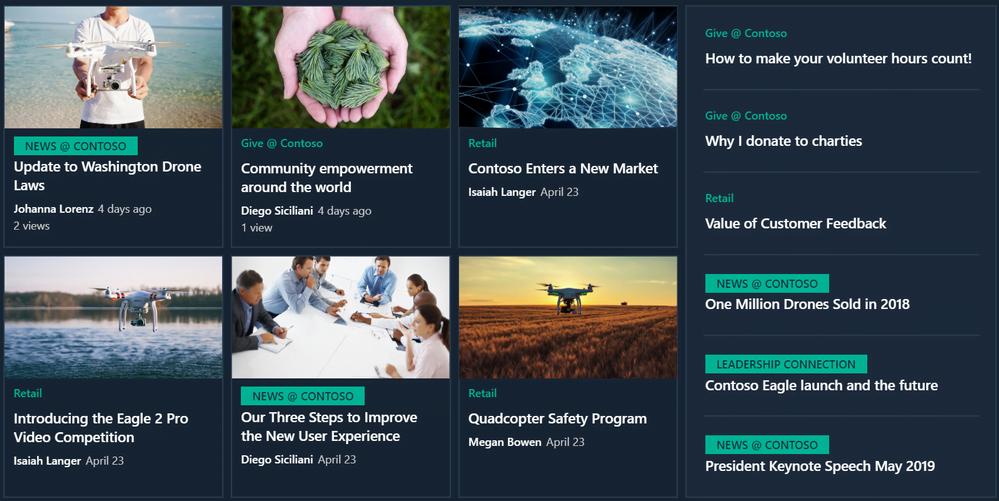 SharePoint Organizational News site