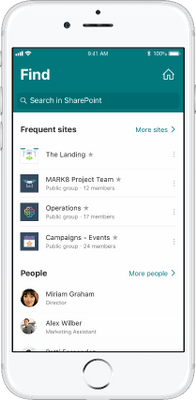 SharePoint mobile app - One touch access to Home site